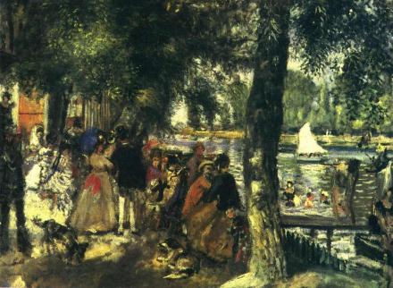 La Grenouillère (1869) by Pierre-Auguste Renoir Image source: www.Wikiart.org